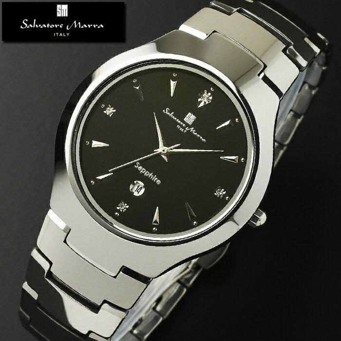 腕時計 メンズ レディース 1年保証 正規 Salvatore Marra サルバトーレ マーラ  タングステン  腕時計 BOX 保証書付き 10P03Dec16