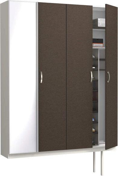 ハピアプレミア 玄関収納 開き戸ユニット レザー調 ハンドルあり 2000高/1600mm幅 リアーピダーク 大建工業の建具
