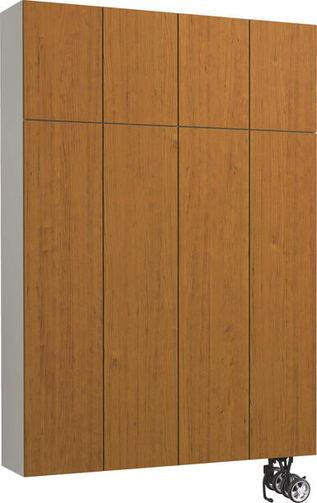玄関収納hapia S50 チェリー柄 ハンドルレス 大建工業の建具