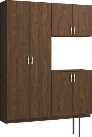 ハピアプレミア 玄関収納 開き戸ユニット 銘木ウッド調 ハンドルあり 2000高/1600mm幅 ウォールナット柄(ダルブラウン) 大建工業の建具