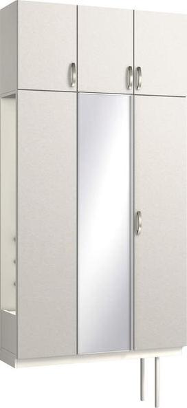 ハピアプレミア 玄関収納 開き戸ユニット レザー調 ハンドルあり 2300高/1200mm幅 リアーピホワイト 大建工業の建具
