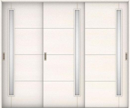 ハピアベイシス 引戸・3枚引違 D2デザイン扉セット 2000高 2432幅 ネオホワイト 大建工業の建具