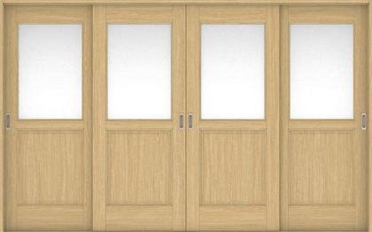 ハピアベイシス 引戸・4枚引違 55デザイン扉セット 2000高 3255幅 ライトオーカー 大建工業の建具