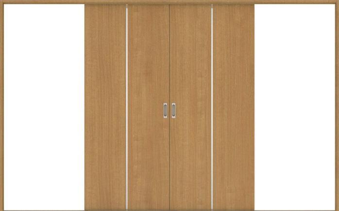 ハピアベイシス 引戸・引分 G7デザイン扉セット 2000高 3255幅 ティーブラウン 大建工業の建具