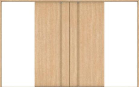 ハピアベイシス 引戸・引分 G8デザイン扉セット 2000高 3255幅 ミルベージュ 大建工業の建具