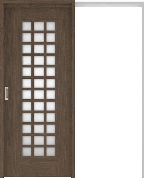 ハピアベイシス 吊戸・引込 79デザイン扉セット 2000高 1645幅 ダルブラウン 大建工業の建具