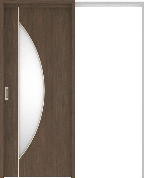 ハピアベイシス 吊戸・引込 D5デザイン扉セット 2000高 1645幅 ダルブラウン 大建工業の建具