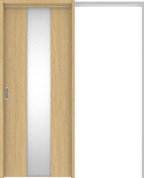 ハピアベイシス 吊戸・引込 G5デザイン扉セット 2000高 1645幅 ライトオーカー 大建工業の建具