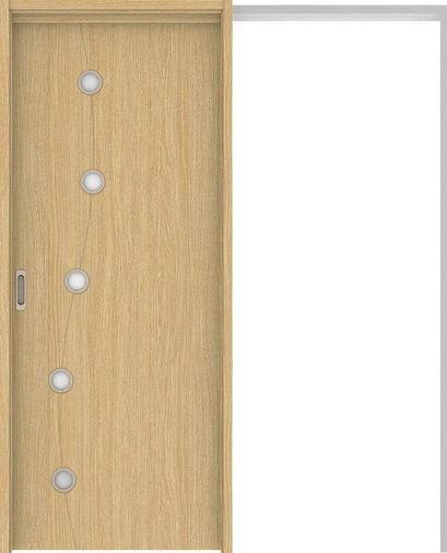 ハピアベイシス 吊戸・引込 S5デザイン扉セット 2000高 1645幅 ライトオーカー 大建工業の建具