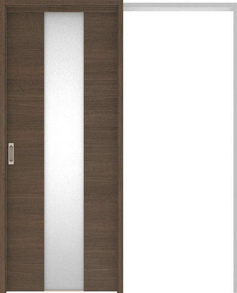 ハピアベイシス 吊戸・引込 Y5デザイン扉セット 2000高 1645幅 ダルブラウン 大建工業の建具