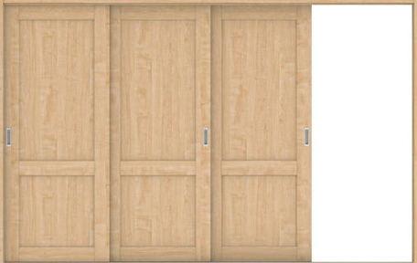 ハピアプレミア 引戸・3枚片引 2Sデザイン扉セット 2000高 3219幅 メープル柄(ミルベージュ) 大建工業の建具