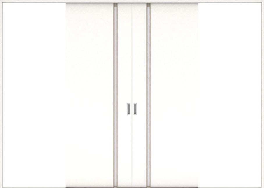 ハピアプレミア 引戸・引分 1Cデザイン扉セット 2300高 3255幅 モノホワイト柄 大建工業の建具