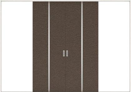 ハピアプレミア 引戸・引分 6Pデザイン扉セット 2300高 3255幅 リアーピダーク 大建工業の建具
