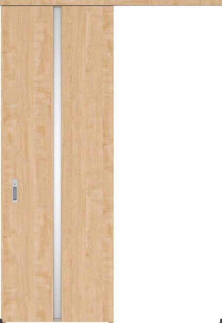 ハピアプレミア アウトセット吊戸・片引 2Pデザイン扉 2300高 835幅 カマ錠付対応 メープル柄(ミルベージュ) 大建工業の建具