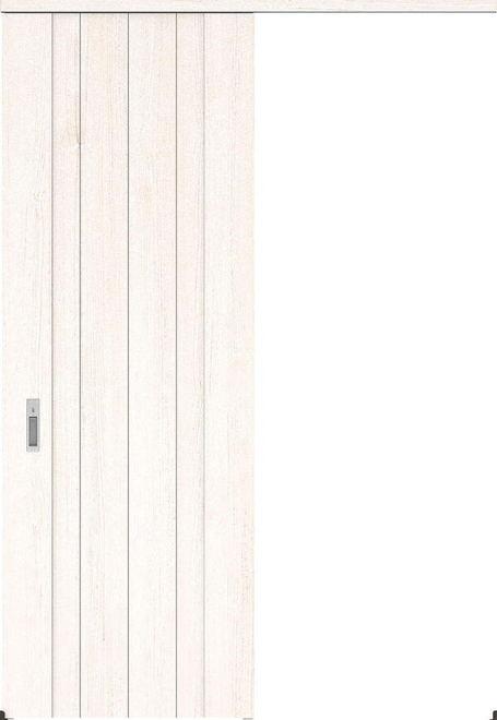ハピアプレミア アウトセット吊戸・片引 0Sデザイン扉 2300高 835幅 カマ錠付対応 アッシュ柄(ネオホワイト) 大建工業の建具