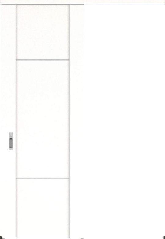 ハピアプレミア アウトセット吊戸・片引 8Pデザイン扉 2300高 835幅 カマ錠付対応 モノホワイト 大建工業の建具