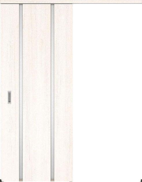 ハピアプレミア アウトセット吊戸・片引 3Pデザイン扉 2000高 835幅 カマ錠なし アッシュ柄(ネオホワイト) 大建工業の建具