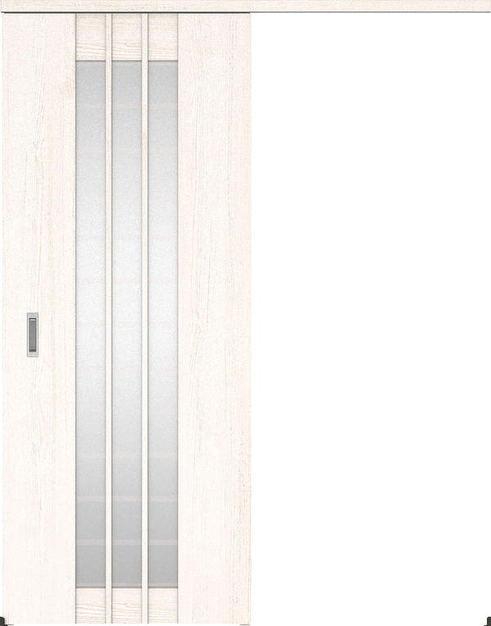 ハピアプレミア アウトセット吊戸・片引 4Sデザイン扉 2000高 835幅 カマ錠なし アッシュ柄(ネオホワイト) 大建工業の建具