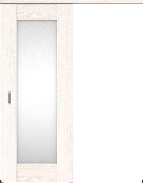 ハピアプレミア アウトセット吊戸・片引 5Pデザイン扉 2000高 835幅 カマ錠なし アッシュ柄(ネオホワイト) 大建工業の建具