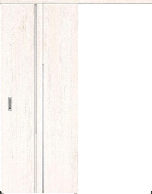 ハピアプレミア アウトセット吊戸・片引 7Pデザイン扉 2000高 835幅 カマ錠なし アッシュ柄(ネオホワイト) 大建工業の建具