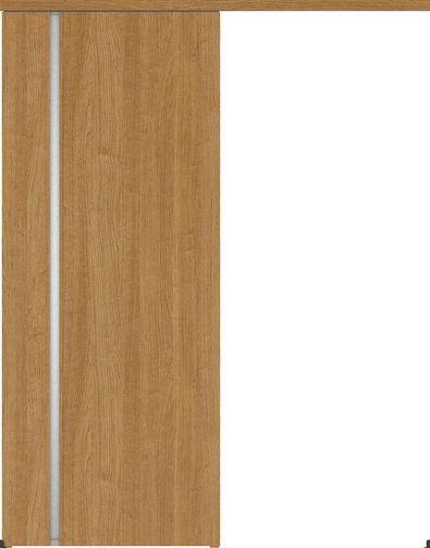 ハピアプレミア アウトセット吊戸・片引 2Cデザイン扉 2000高 835幅 カマ錠なし チェリー柄(ティーブラウン) 大建工業の建具