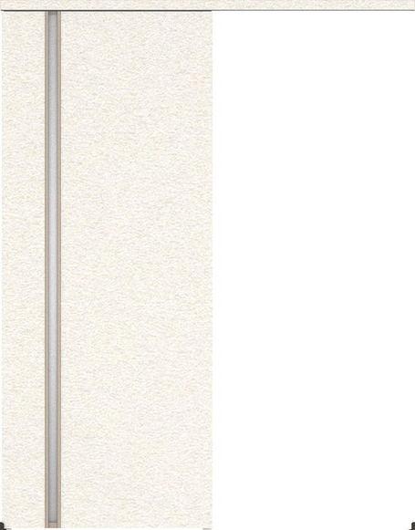 ハピアプレミア アウトセット吊戸・片引 2Cデザイン扉 2000高 835幅 カマ錠なし リアーピホワイト 大建工業の建具
