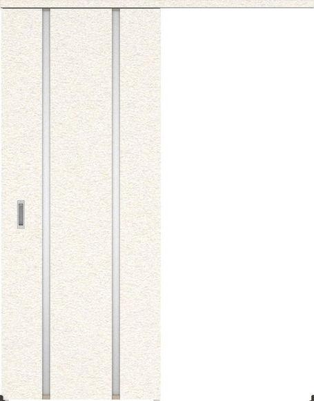 ハピアプレミア アウトセット吊戸・片引 3Pデザイン扉 2000高 835幅 カマ錠なし リアーピホワイト 大建工業の建具