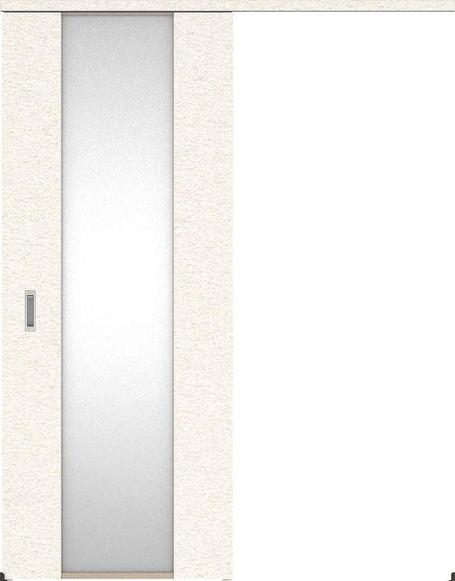 ハピアプレミア アウトセット吊戸・片引 4Pデザイン扉 2000高 835幅 カマ錠なし リアーピホワイト 大建工業の建具