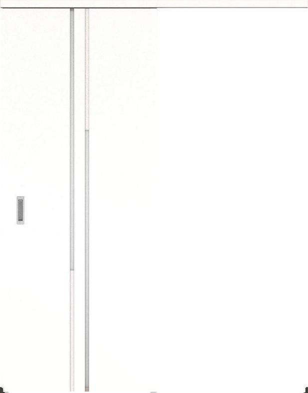 ハピアプレミア アウトセット吊戸・片引 7Pデザイン扉 2000高 835幅 カマ錠なし モノホワイト 大建工業の建具