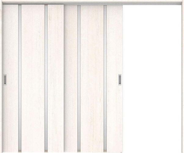 ハピアプレミア 吊戸・2枚片引 3Pデザイン扉セット 2000高 2432幅 アッシュ柄(ネオホワイト) 大建工業の建具