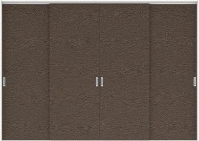 ハピアプレミア 吊戸・4枚引違 0Pデザイン扉セット 2300高 3255幅 リアーピダーク 大建工業の建具