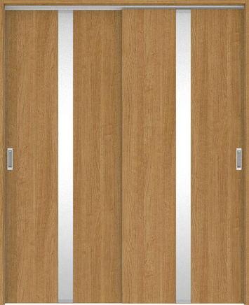 ハピアプレミア 吊戸・引違 0Cデザイン扉セット 2000高 1645幅 チェリー柄(ティーブラウン) 大建工業の建具