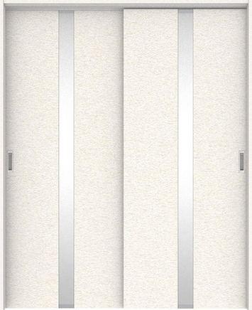 ハピアプレミア 吊戸・引違 0Cデザイン扉セット 2000高 1645幅 リアーピホワイト 大建工業の建具