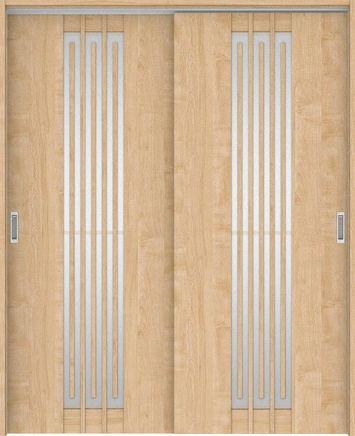 ハピアプレミア 吊戸・引違 5Sデザイン扉セット 2000高 1645幅 メープル柄(ミルベージュ) 大建工業の建具
