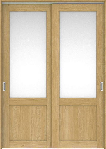 ハピアプレミア 吊戸・引違 3Sデザイン扉セット 2300高 1645幅 オーク柄(ライトオーカー) 大建工業の建具