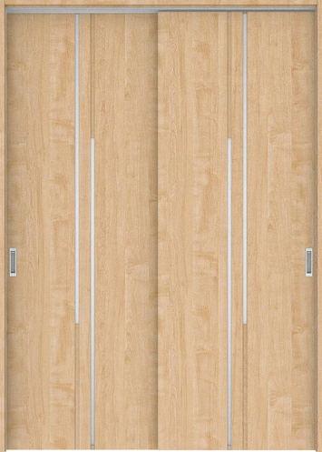 ハピアプレミア 吊戸・引違 7Pデザイン扉セット 2300高 1645幅 メープル柄(ミルベージュ) 大建工業の建具