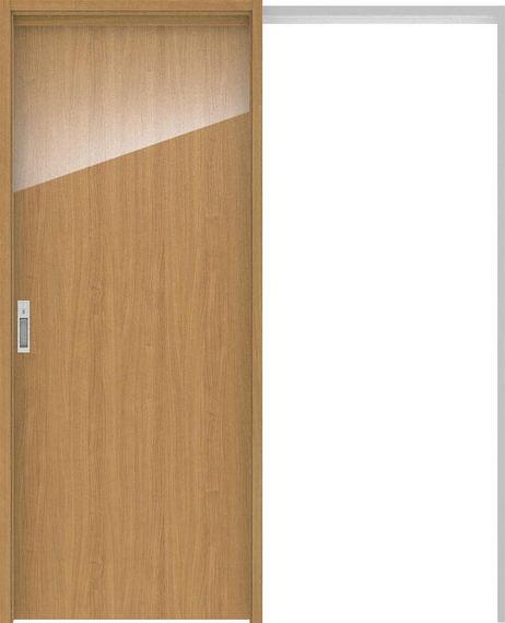 ハピアプレミア 吊戸・引込 0Pデザイン扉セット 2000高 1645幅 チェリー柄(ティーブラウン) 大建工業の建具