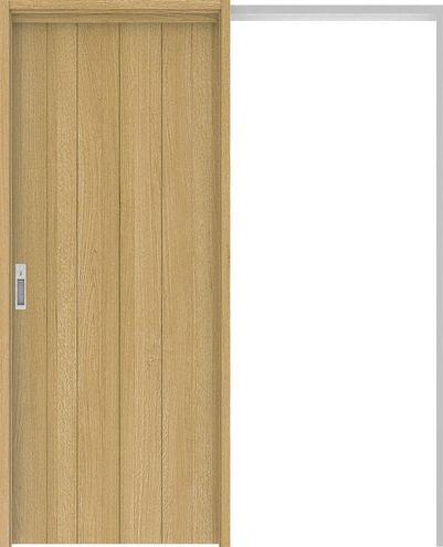 ハピアプレミア 吊戸・引込 0Sデザイン扉セット 2000高 1645幅 オーク柄(ライトオーカー) 大建工業の建具
