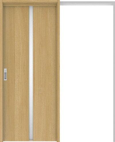 ハピアプレミア 吊戸・引込 2Pデザイン扉セット 2000高 1645幅 オーク柄(ライトオーカー) 大建工業の建具