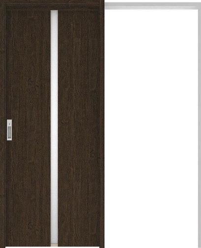 ハピアプレミア 吊戸・引込 2Pデザイン扉セット 2000高 1645幅 アッシュ柄(オフブラック) 大建工業の建具