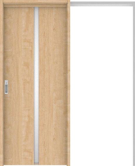 ハピアプレミア 吊戸・引込 2Pデザイン扉セット 2000高 1645幅 メープル柄(ミルベージュ) 大建工業の建具