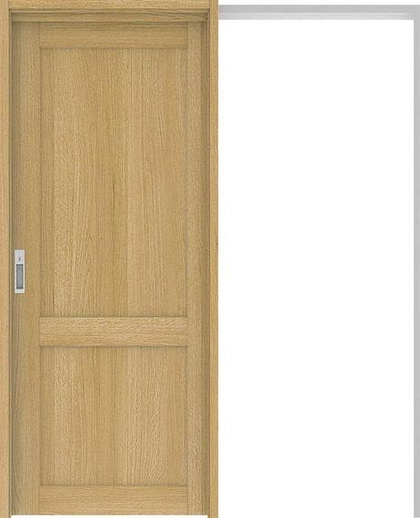 ハピアプレミア 吊戸・引込 2Sデザイン扉セット 2000高 1645幅 オーク柄(ライトオーカー) 大建工業の建具