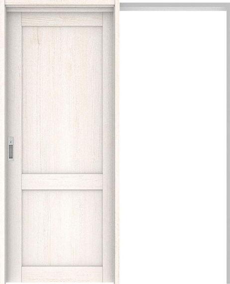ハピアプレミア 吊戸・引込 2Sデザイン扉セット 2000高 1645幅 アッシュ柄(ネオホワイト) 大建工業の建具