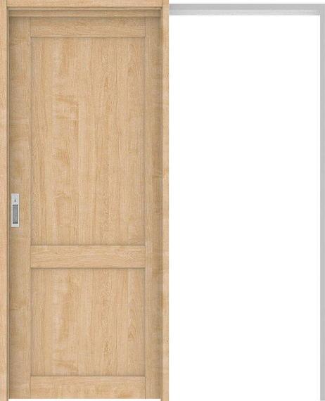 ハピアプレミア 吊戸・引込 2Sデザイン扉セット 2000高 1645幅 メープル柄(ミルベージュ) 大建工業の建具