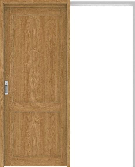 ハピアプレミア 吊戸・引込 2Sデザイン扉セット 2000高 1645幅 チェリー柄(ティーブラウン) 大建工業の建具