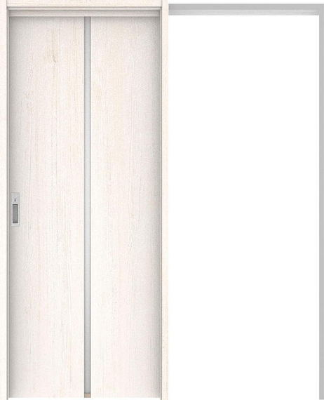 ハピアプレミア 吊戸・引込 6Pデザイン扉セット 2000高 1645幅 アッシュ柄(ネオホワイト) 大建工業の建具