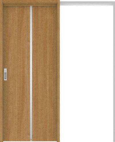 ハピアプレミア 吊戸・引込 6Pデザイン扉セット 2000高 1645幅 チェリー柄(ティーブラウン) 大建工業の建具