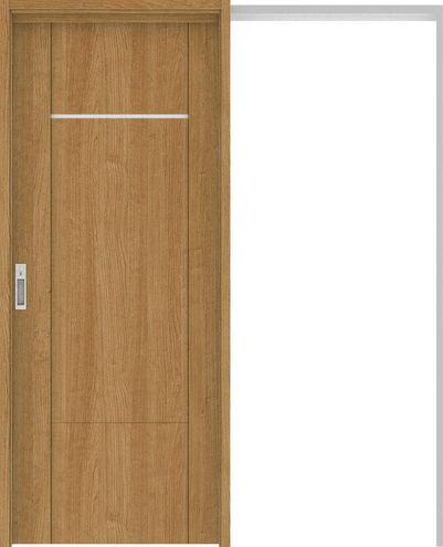 ハピアプレミア 吊戸・引込 8Pデザイン扉セット 2000高 1645幅 チェリー柄(ティーブラウン) 大建工業の建具
