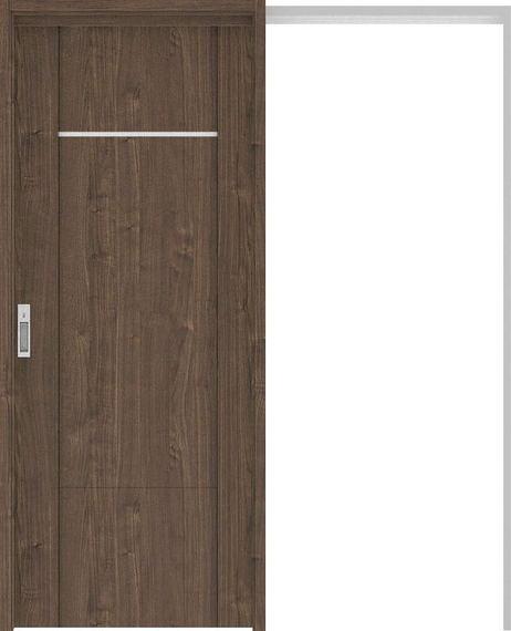 ハピアプレミア 吊戸・引込 8Pデザイン扉セット 2000高 1645幅 ウォールナット柄(ダルブラウン) 大建工業の建具