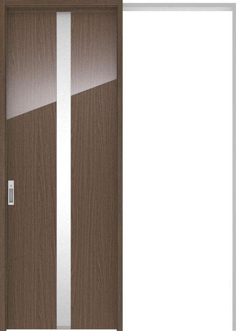 ハピアプレミア 吊戸・引込 0Cデザイン扉セット 2300高 1645幅 ウォールナット柄(ダルブラウン) 大建工業の建具